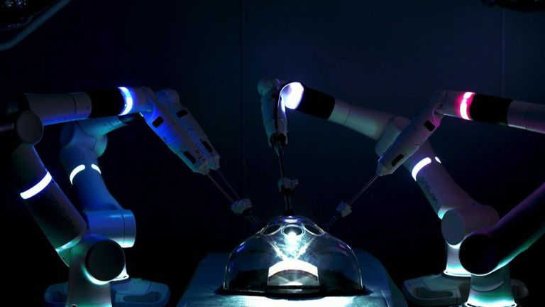 Surgeons operating on patients while controlling robotic arms could become a new norm in hospitals. Phillips VT