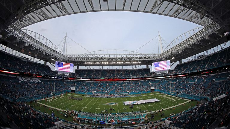A general view of Hard Rock Stadium, where the 2020 Super Bowl will be held