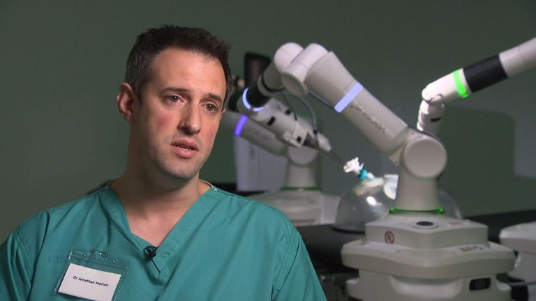 Jonathan Morton is among a handful of physicians who have tried out the machinery.