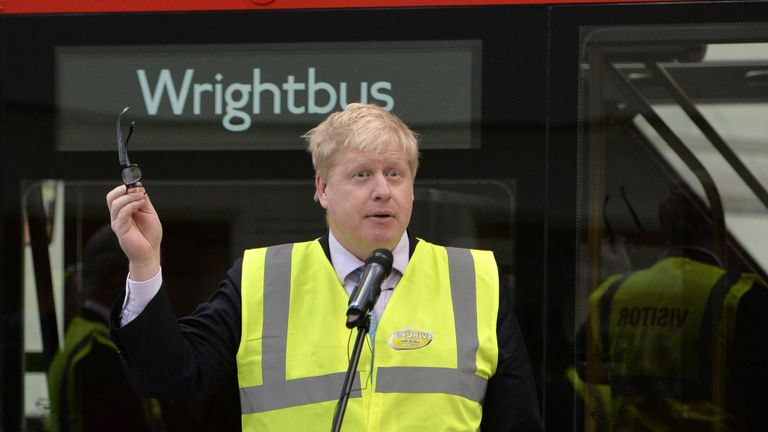Wrightbus makes the Routemasters commissioned by Boris Johnson as Mayor of London