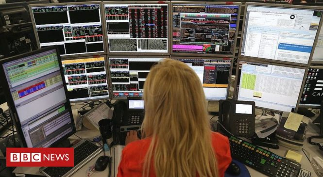 Global stock markets fall with FTSE 100 worst-hit