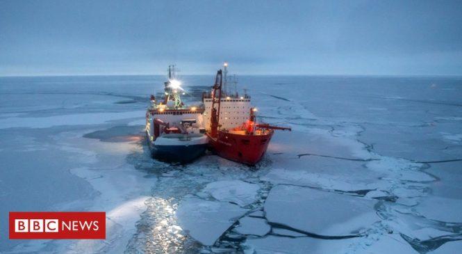 Climate change: Polarstern icebreaker begins year-long Arctic drift