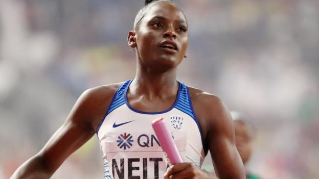 World Athletics Championships: GB 4x100m teams reach finals, Dalilah Muhammad wins 400m hurdles