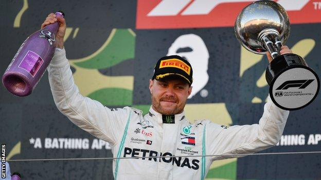 Valtteri Bottas wins Japanese Grand Prix as Mercedes win constructors' title