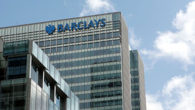 Barclays HQ in Canary Wharf, London.