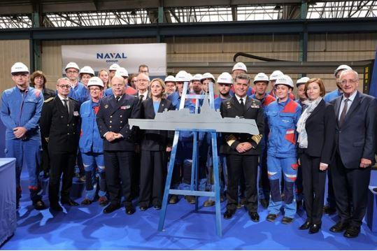 Construction starts on first digital frigate for France