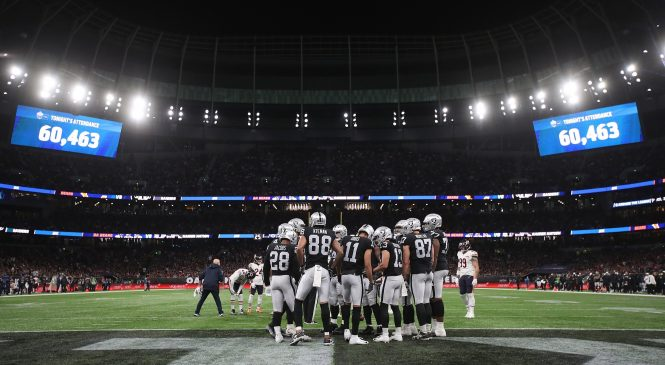 Oakland Raiders record 24-21 win over Chicago Bears in thrilling NFL clash at the Tottenham Hotspur Stadium