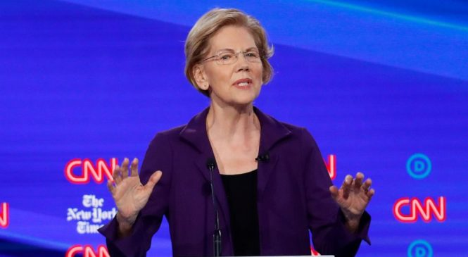 Warren, candidate with the answers, dodges tax hike question