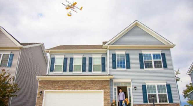 Drones begin delivering online shopping in the US