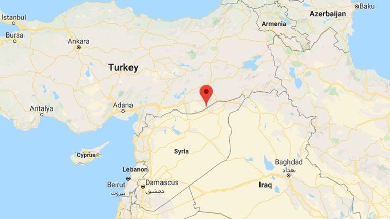 Ras al Ain lies on the border of Turkey and Syria. Pic: Google Maps