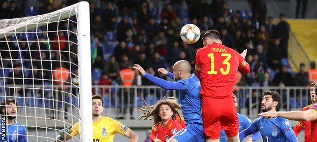 Azerbaijan 0-2 Wales: Moore & Wilson goals keep automatic Euro 2020 qualification alive