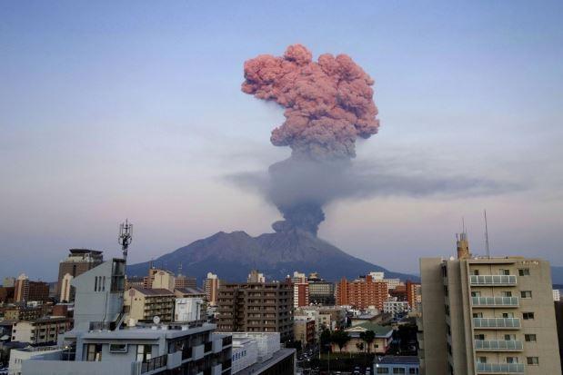 Japan's Mount Sakurajima volcano makes largest eruption in 3 years
