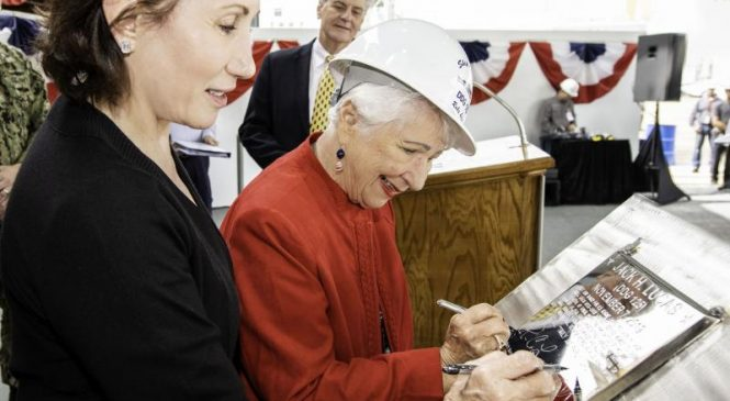 Keel laid for U.S. Navy's first Arleigh Burke Flight III destroyer