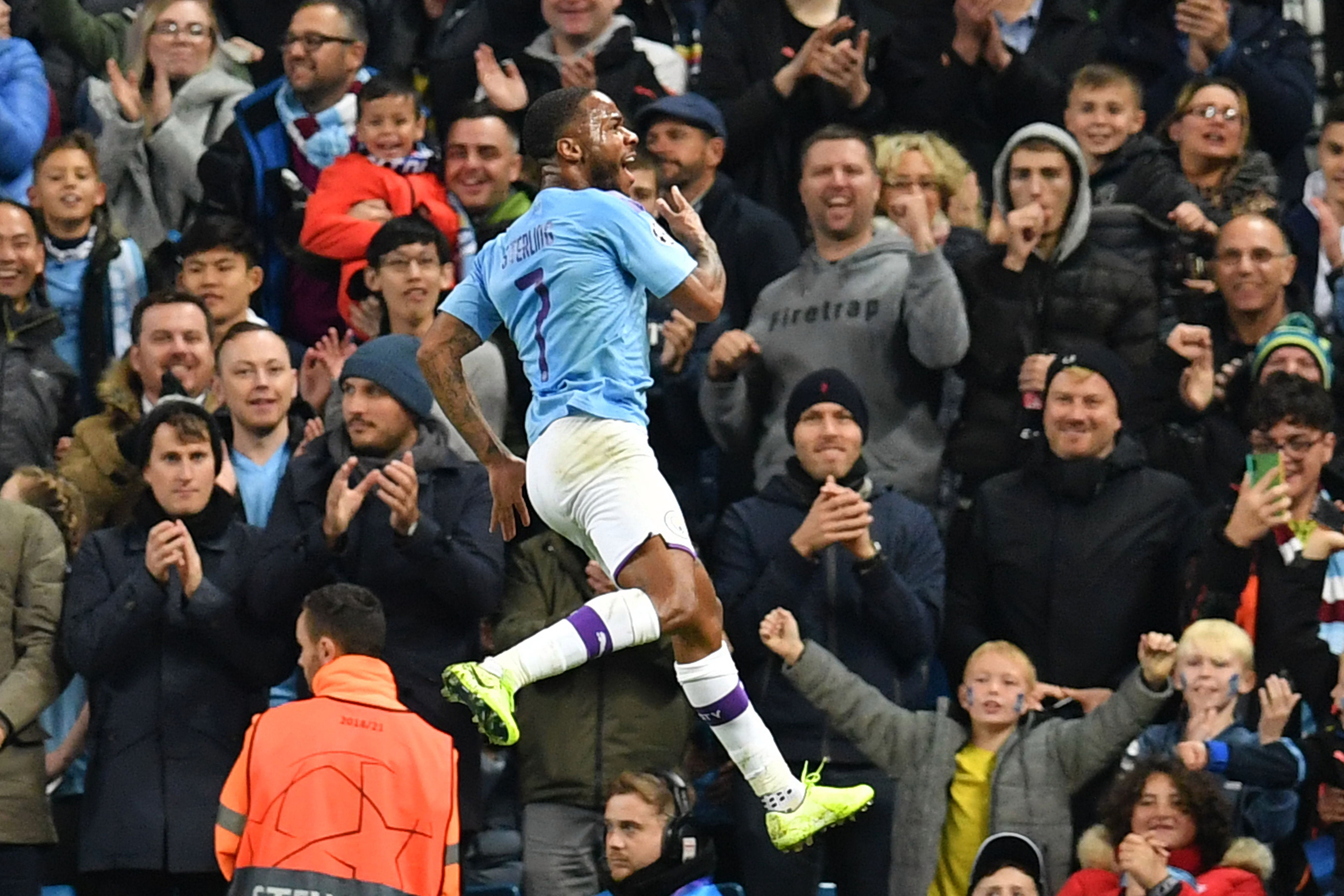 Man City star Raheem Sterling scored a hat-trick against Atalanta last month