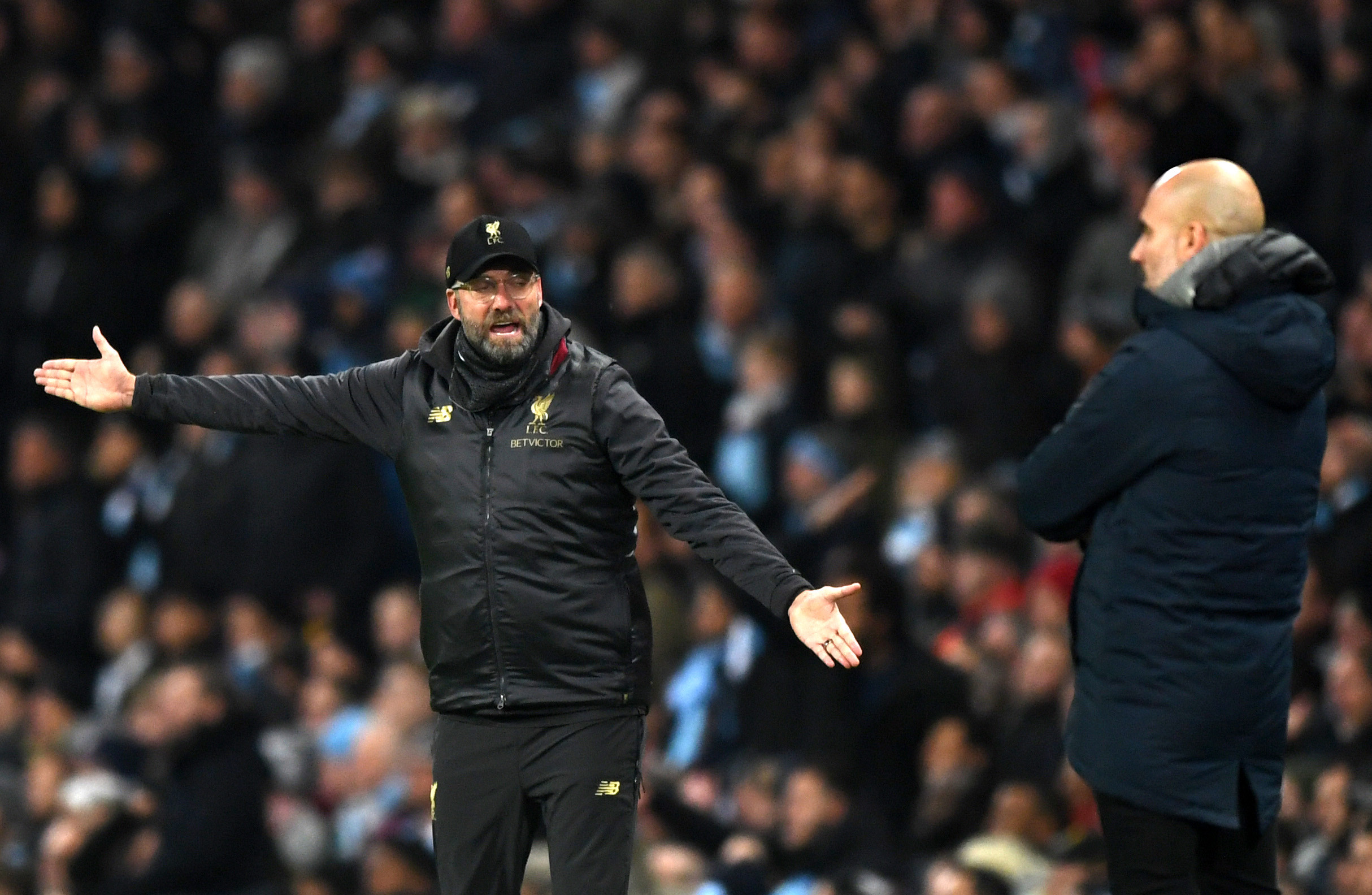 Klopp and Guardiola have traded verbal barbs before the Anfield clash