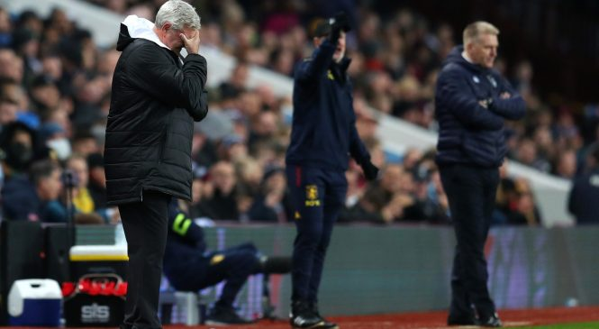 Steve Bruce mocked by Aston Villa fans on return to Villa Park as Newcastle United lose to Villans for the first time since April 2011