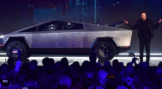 Elon Musk reveals why Cybertruck window smashed