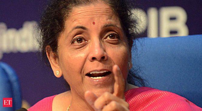 Government mulls raising insurance cover on bank deposits to above Rs 1 lakh: Nirmala Sitharaman