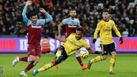 West Ham 1-3 Arsenal: Gunners gain first win under Freddie Ljungberg