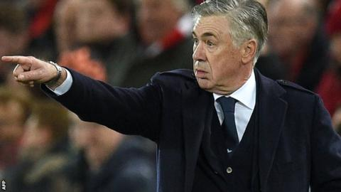 Carlo Ancelotti is Everton's first choice to be new manager