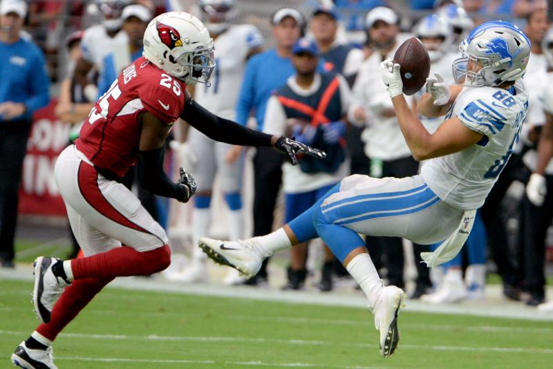 Detroit Lions place rookie TE T.J. Hockenson on injured reserve