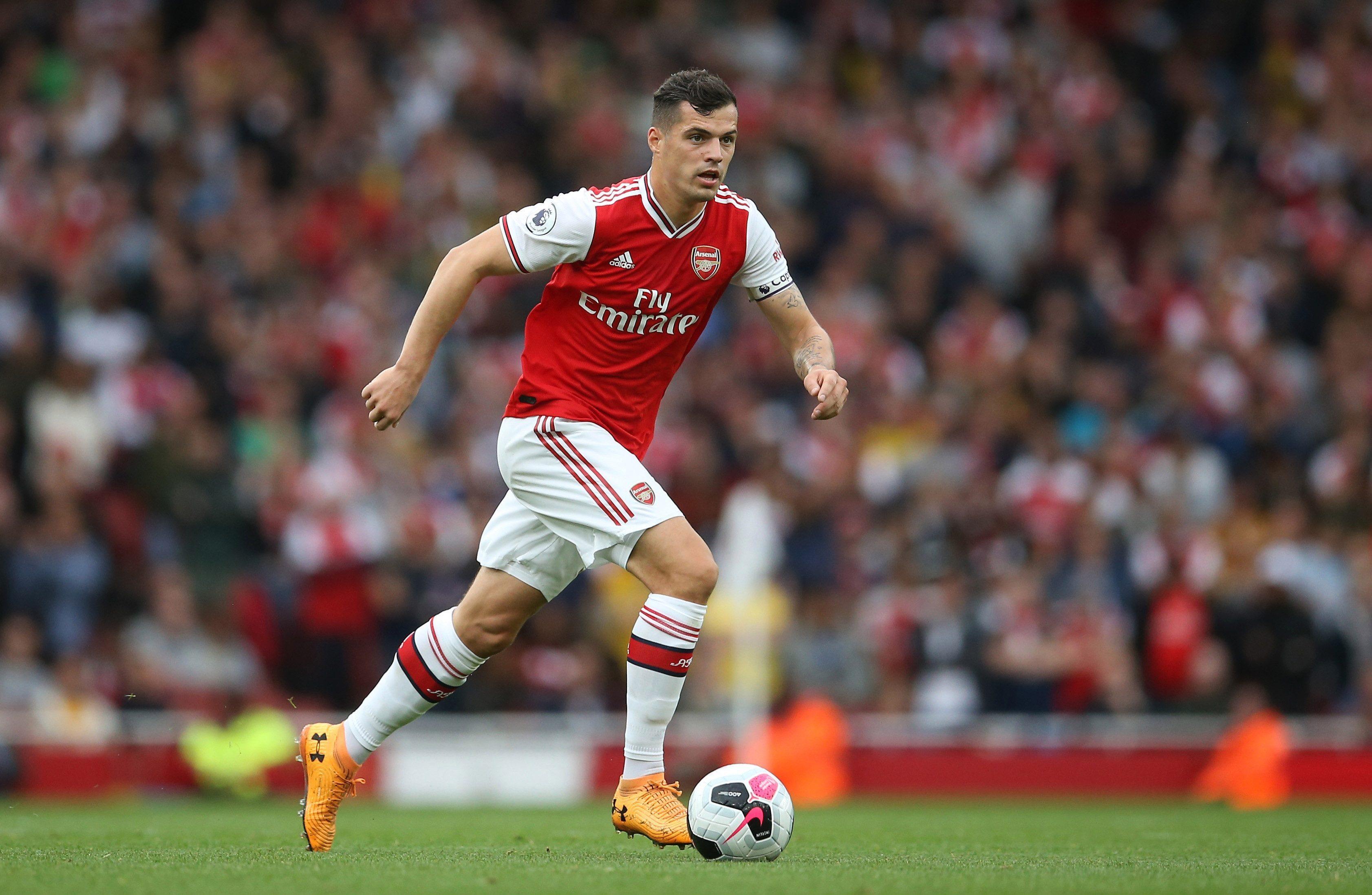 Arsenal midfielder Granit Xhaka is no stranger to a yellow card
