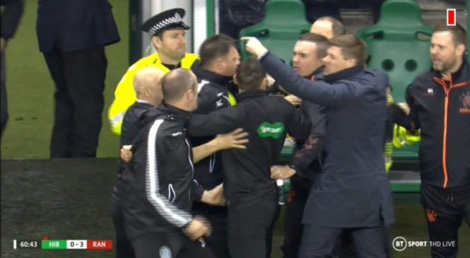 Steven Gerrard launches furious touchline outburst as horror challenge on Rangers defender Borna Barisic sparks chaos at Hibs