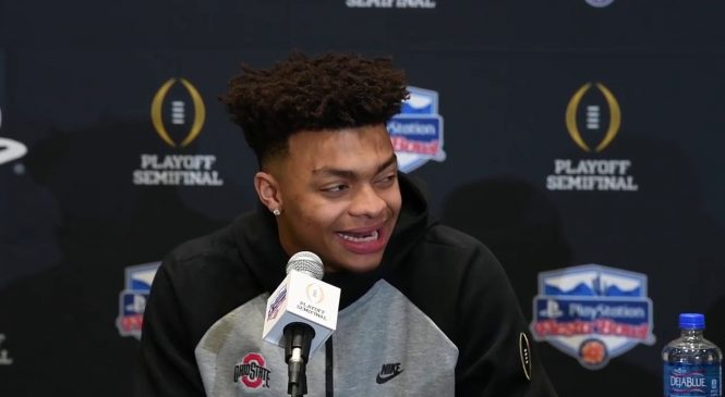 Ohio State QB Justin Fields: Injured knee is 80-85% healthy