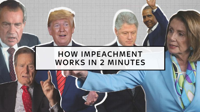 How impeachment works for a US president in two minutes.