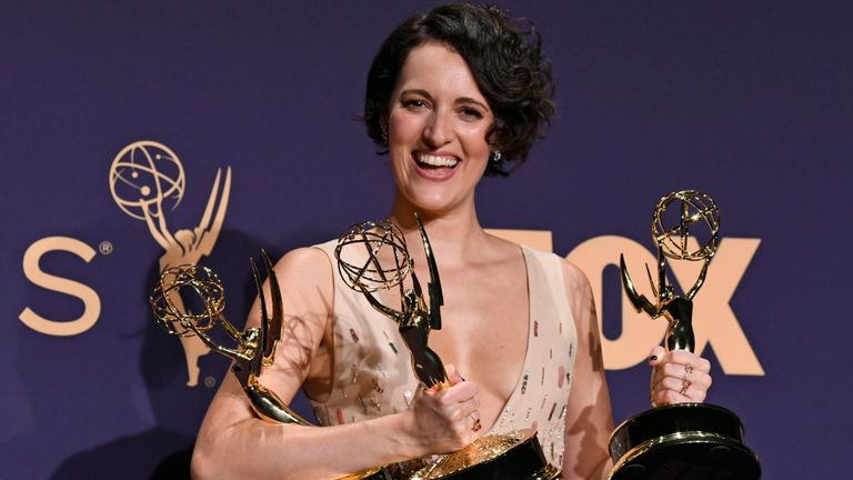 Fleabag star Phoebe Waller-Bridge wins three awards at the Emmys