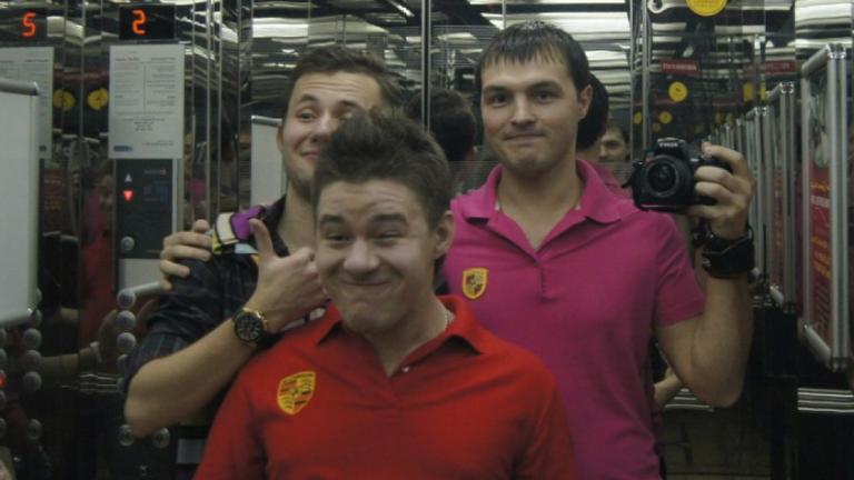 Evil Corp members Kirill Slobodskoy, Dmitry Smirnov, Denis Gusev, in Dubai. Pic: NCA