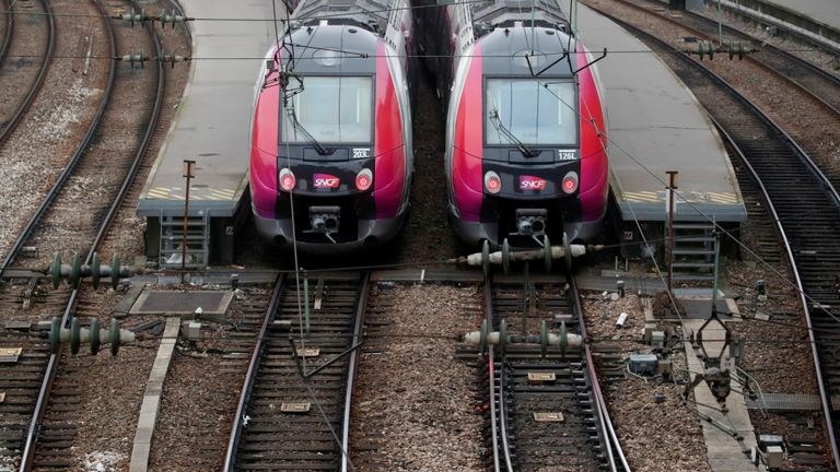 Train services across France have been disrupted