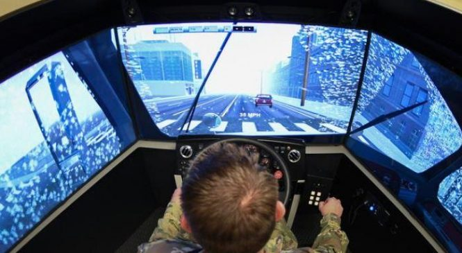 Driver training simulator at Hill AFB expected to save time, money