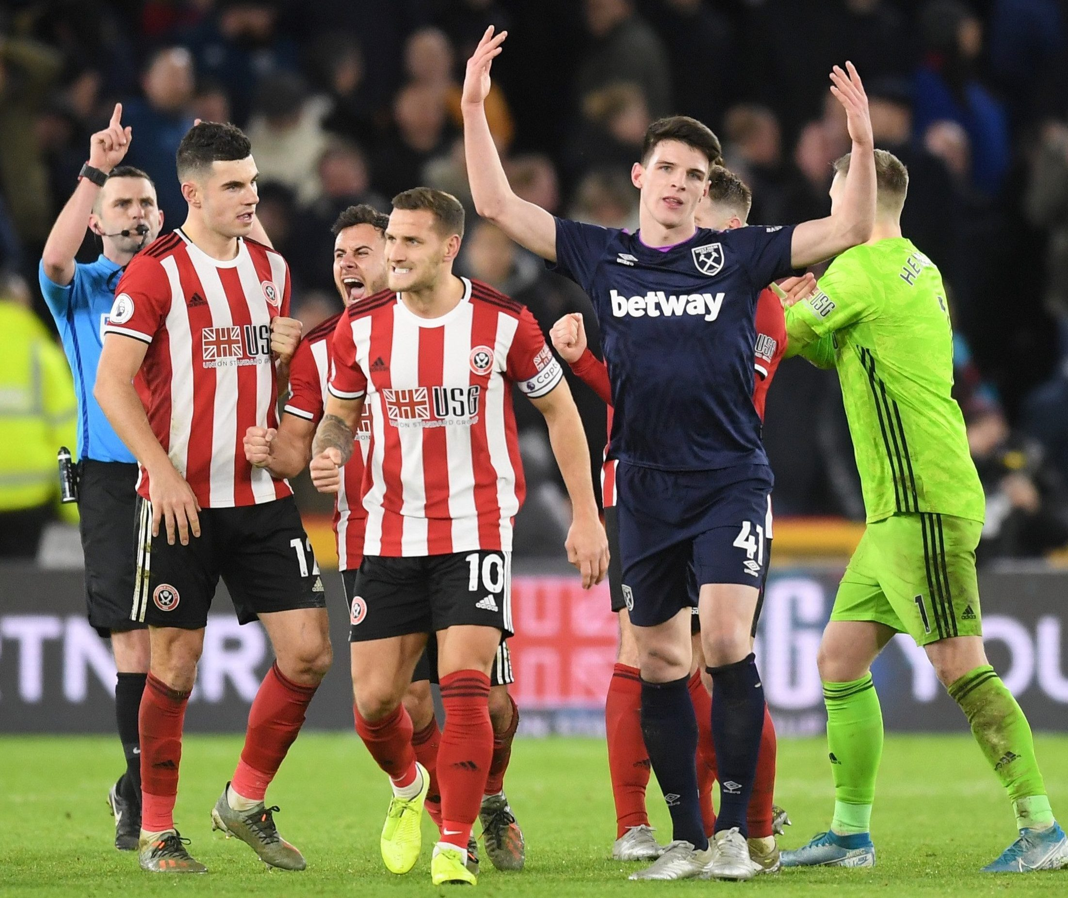 Declan Rice was penalised by VAR in injury-time for an unintentional handball