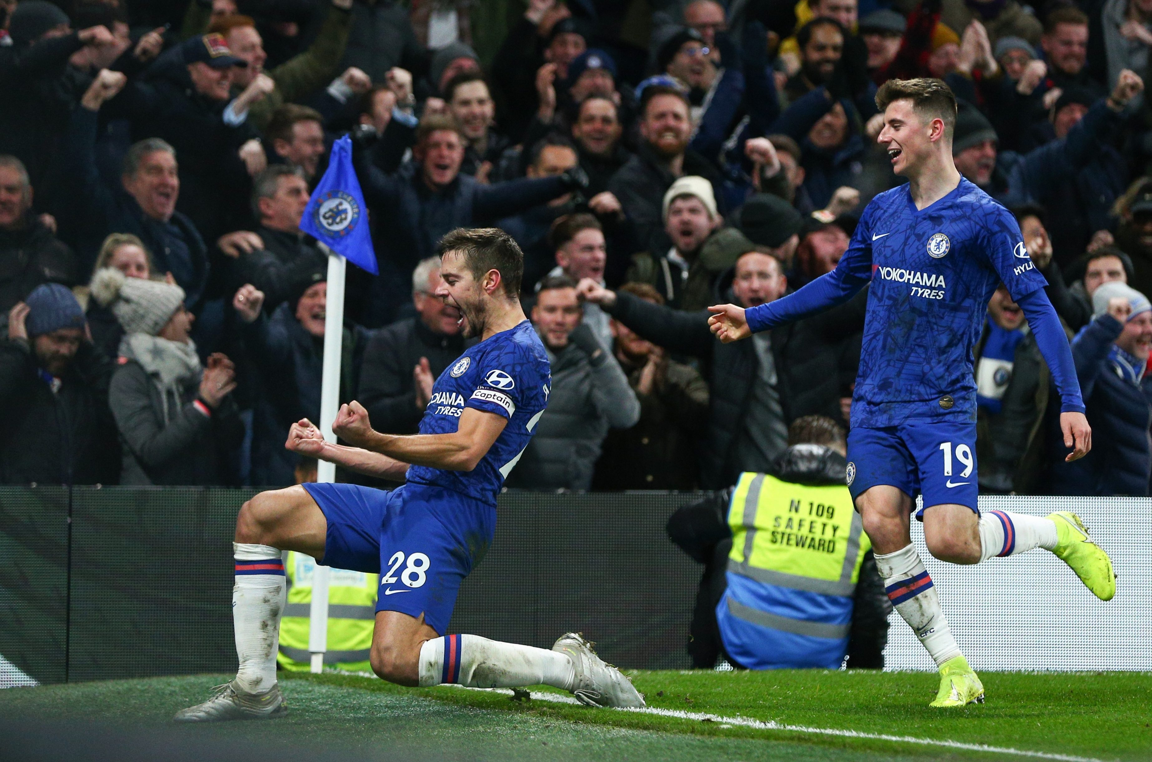 Azpilicueta must have thought he'd won the game for Chelsea with his 84th minute goal