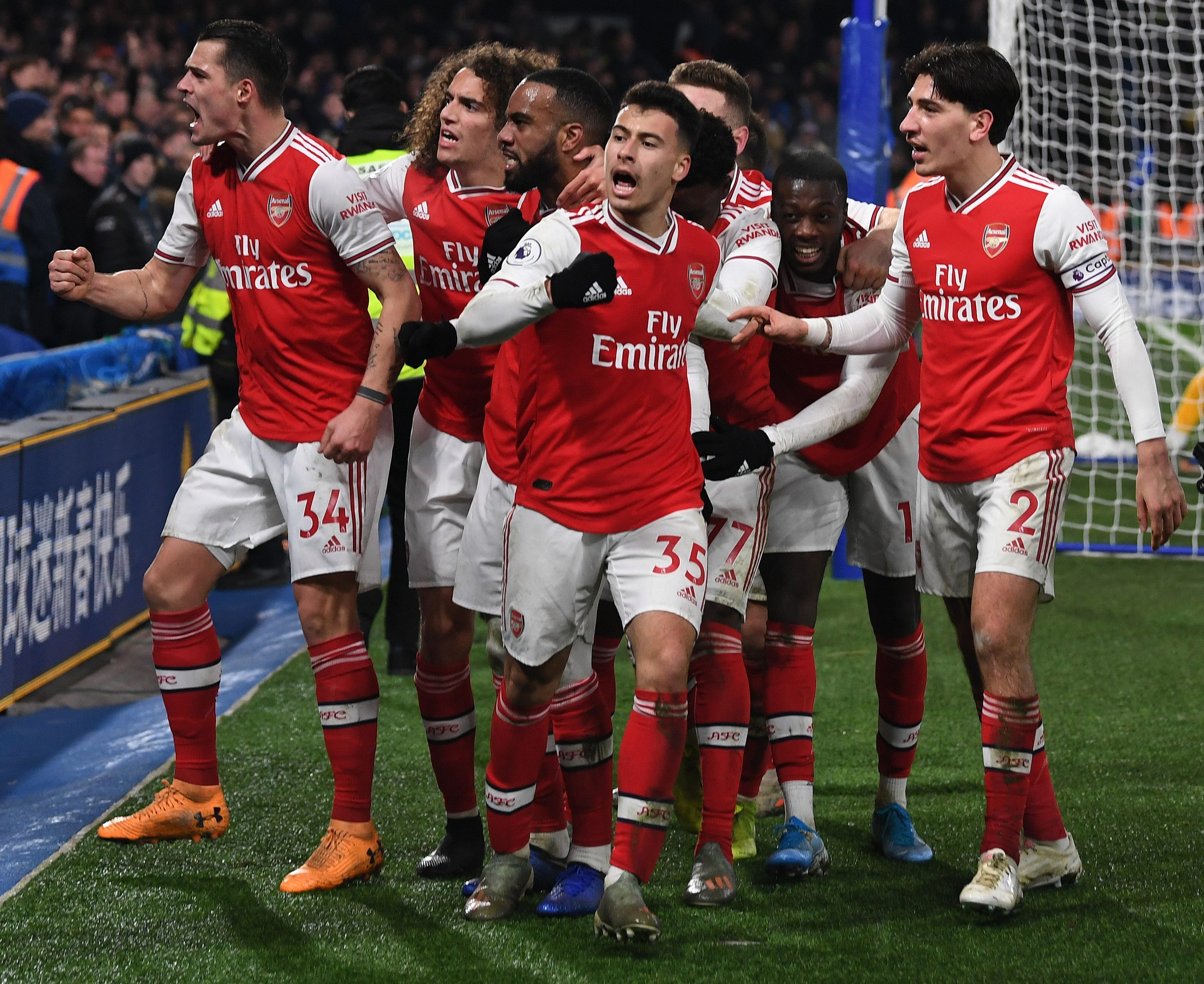 But Arsenal battled back to seal a late point at Stamford Bridge
