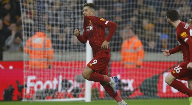 Roberto Firmino hits late winner for Liverpool as Jurgen Klopp's men extend Premier League unbeaten run to 40 games