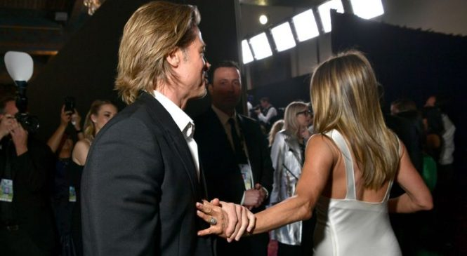 Brad and Jen reunite at Screen Actors Guild Awards