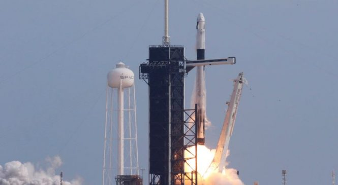 SpaceX blows up rocket to test astronaut escape system