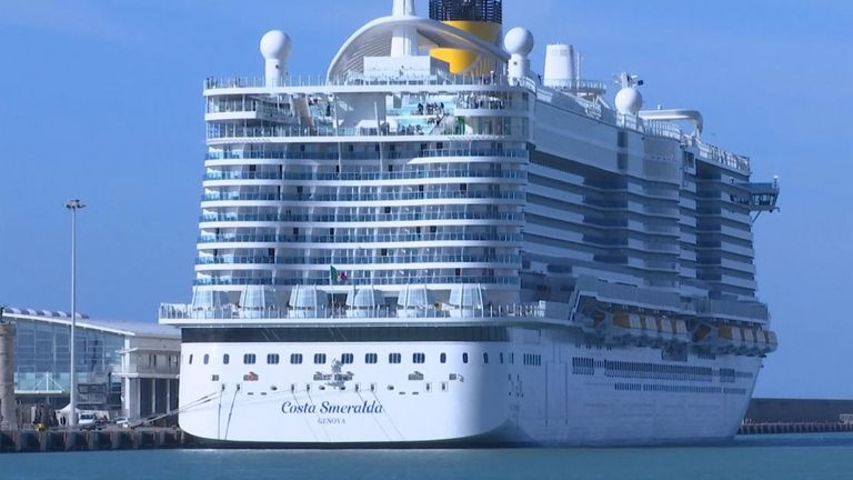 Italian authorities held 6,000 passengers on a cruise ship for screening after a traveller from Macao came down with flu-like symptoms.
