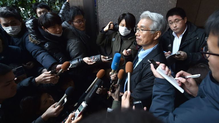 Japanese lawyer for former auto tycoon Carlos Ghosn, Junichiro Hironaka