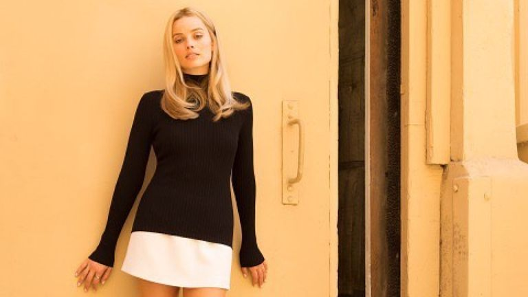 Margot Robbie posted an image of her as Sharon Tate. Pic: @margotrobbie