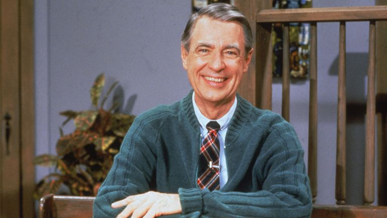 Portrait of American educator and television personality Fred Rogers (1928 - 2003) of the television series 'Mister Rogers' Neighborhood,' circa 1980s