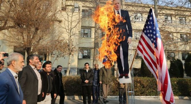 Effigy of 'undesirable' UK ambassador burned in Iran