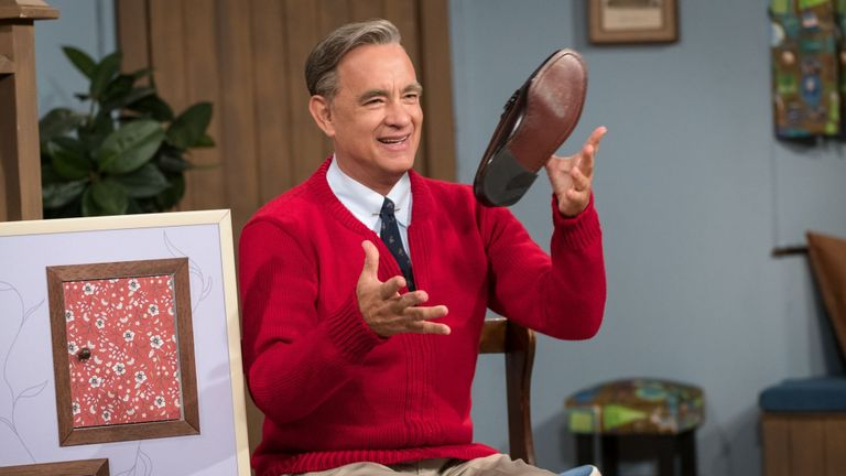 Tom Hanks stars as Mister Rogers in TriStar Pictures' A BEAUTIFUL DAY IN THE NEIGHBORHOOD.  TriStar Pictures/Lacey Terrell