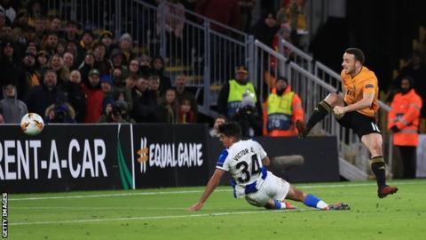 Wolverhampton Wanderers 4-0 Espanyol: Diogo Jota scores a hat-trick in big Wolves win