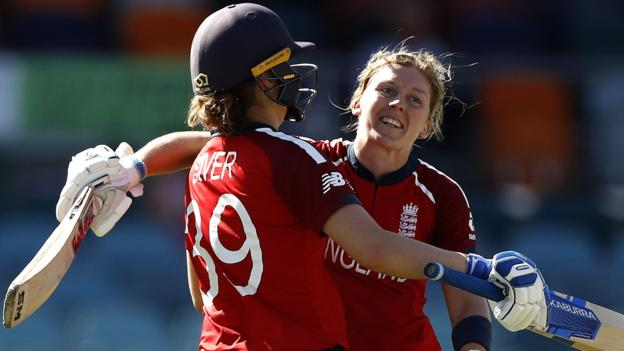 Women's T20 World Cup: Heather Knight hits century as England crush Thailand