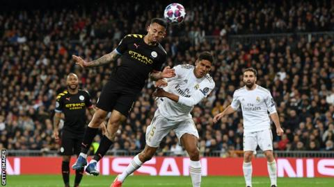 Real Madrid 1-2 Manchester City: Gabriel Jesus & Kevin de Bruyne give City win in first leg