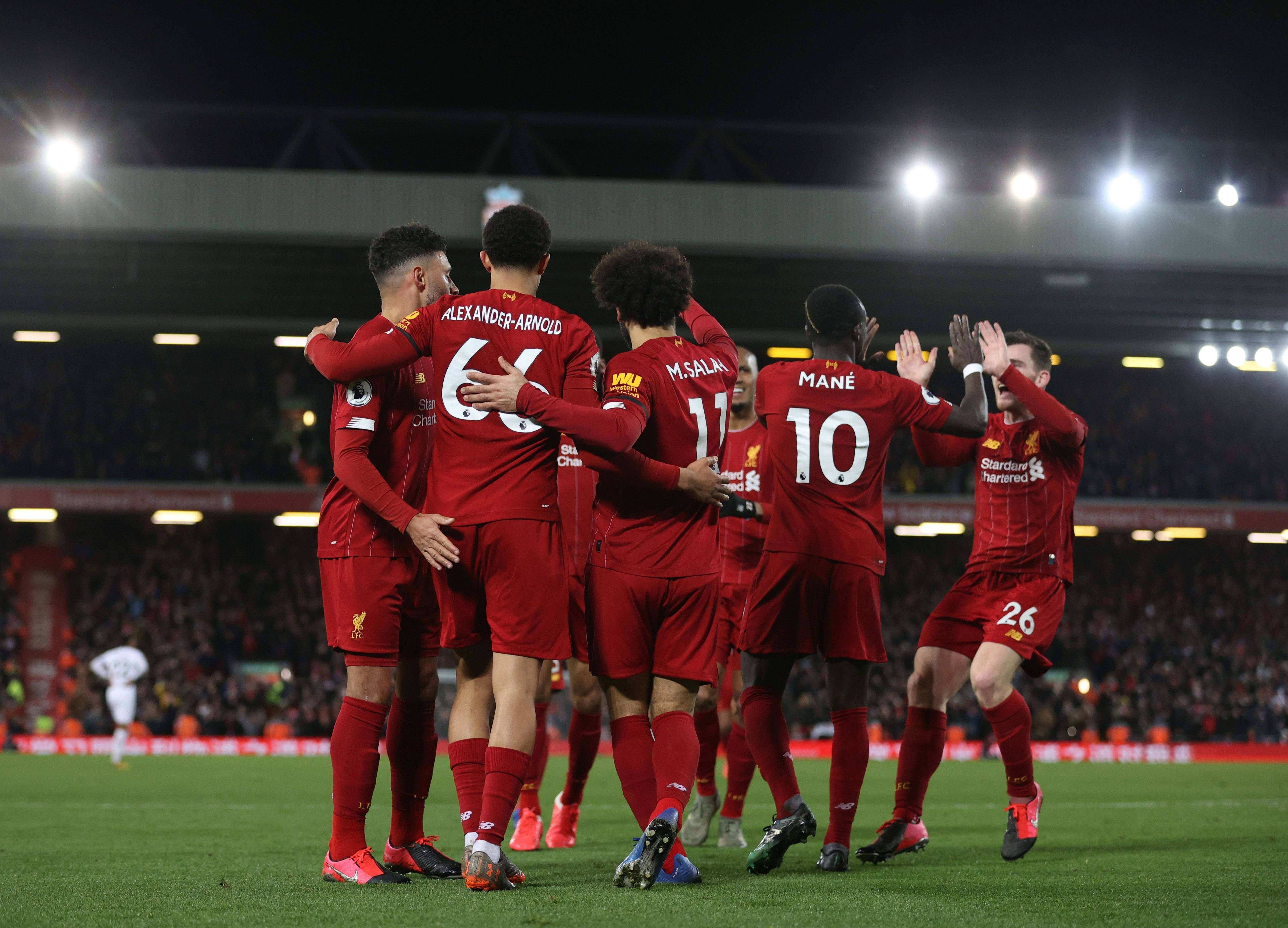 Liverpool rode their luck as the close in on the league title