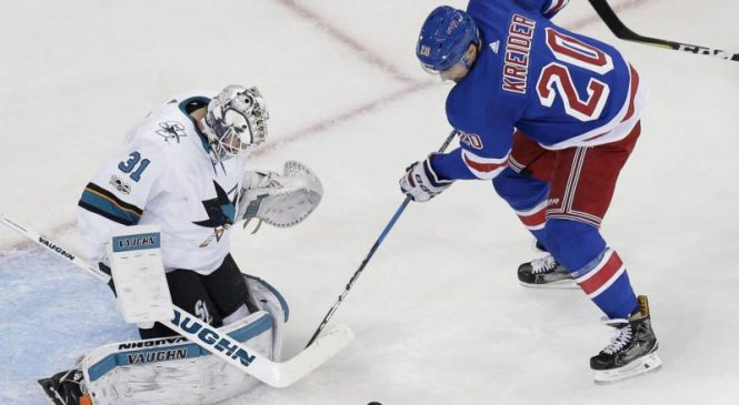 New York Rangers' Chris Kreider fractures foot vs. Philadelphia Flyers